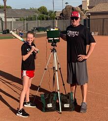 Nate Denton and his daughter Brooke have found great joy in practicing with softball drills with MaxBP.