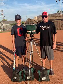 Nate Denton and his son Brandon have found that training with MaxBP is a bonding experience and a very practical practice tool for baseball.