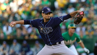 Charlie Morton of the Tampa Bay Rays struggled with his control early, but managed to keep the Oakland Athletics at bay in the Rays' AL Wild Card Game victory.