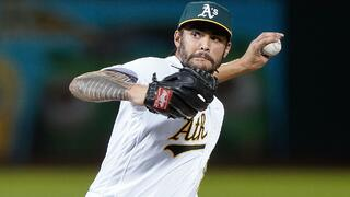 Sean Manaea of the Oakland Athletics struggled in his outing versus the Tampa Bay Rays in the AL Wild Card game.