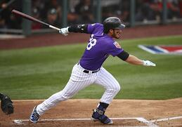 Nolan Arenado is one of the great hitters in Major League Baseball today, he is know to be a bad ball hitter and finishes his swing with a variety of follow through options.